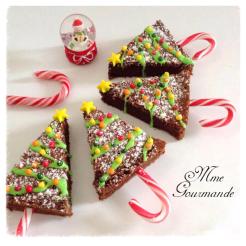 Sapins Noël en gateau chocolat