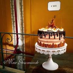 Gâteau présenté à Cyril Lignace et Frédérique