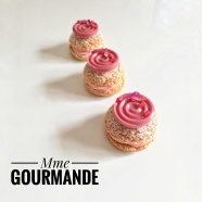 Choux à la Rose, Framboise, Chocolat Cacao Barry